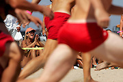 The annual National Lifeguard Competition at the Huntington State Beach in California.