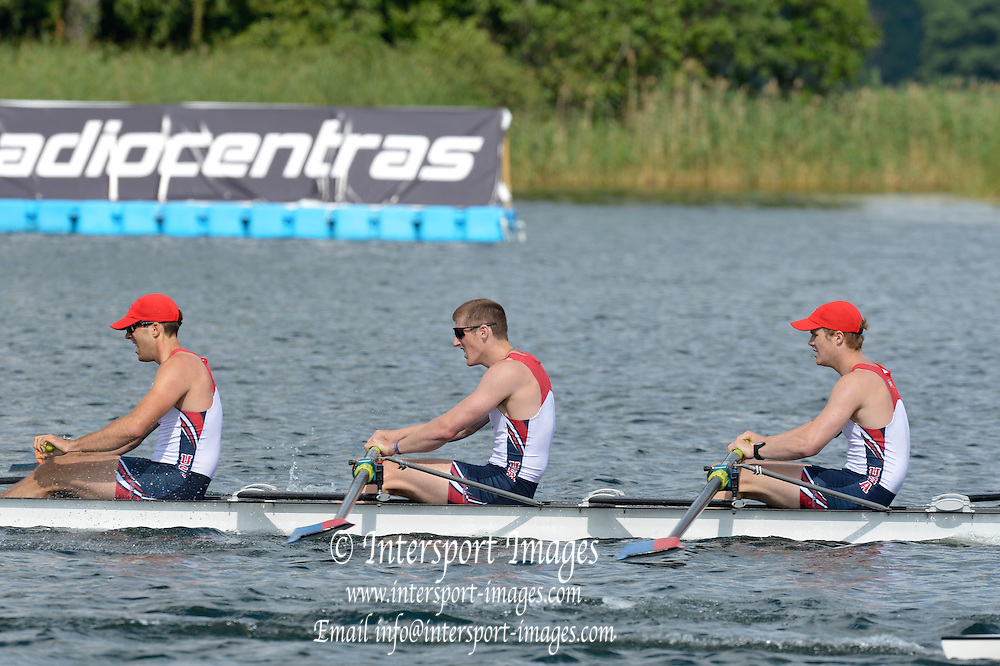 Trackai. LITHUANIA. ..USA BM4+  on Lake Galve. ..2012 FISA U23 World Rowing Championships.     16:29:22  Saturday  14/07/2012 [Mandatory Credit: Peter Spurrier/Intersport Images]..Rowing. 2012. U23.