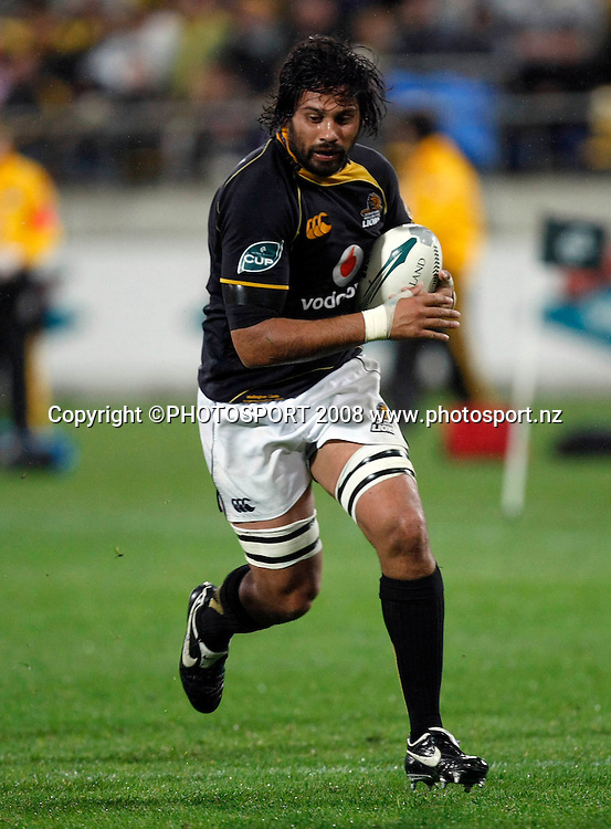 Wellington's Ross Filipo. Air NZ Cup Final, Wellington v Canterbury, Westpac Stadium, Wellington, New Zealand. Saturday 25th October 2008. Photo: Simon Watts/PHOTOSPORT
