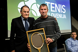Marko Umberger and Jiri Volt during General Assembly of Slovenian Tennis Federation, on December 12, 2018 in Kristalna palaca, Ljubljana, Slovenia. Photo by Vid Ponikvar / Sportida