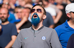 Chelsea fan sings the national anthem.  - Mandatory by-line: Alex James/JMP - 19/05/2018 - FOOTBALL - Wembley Stadium - London, England - Chelsea v Manchester United - Emirates FA Cup Final