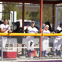 Miyamura Patriots cheering on their teammates while batting in the bottom of the fifth inning in their game against Shiprock Friday, May 3 at Miyamura High School in Gallup.