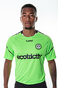 Forest Green Rovers Tahvon Campbell during the 2018/19 official team photocall for Forest Green Rovers at the New Lawn, Forest Green, United Kingdom on 30 July 2018. Picture by Shane Healey.