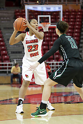 21 December 2015:  Viria Livingston(23) held outside by Konner Harris(11). Illinois State University Women's Basketball team hosted The Cougars of Chicago State at Redbird Arena in Normal Illinois.