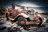 Saskatchewan Canada, Vintage 1930s car