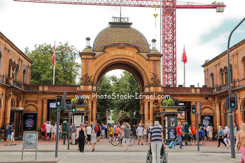 Tivoli Gardens entrance gate, Copenhagen, Denmark
