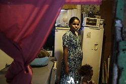 November 21, 2016 - Recife, Brazil - Gerlane Suerda  de Santana, 26, have four children and is pregnant of the fifth. She has never had a prenatal exam and does not know how many months she will have to wait to give birth. Suerda lives in the riverside community of Coque, in Recife, northeastern Brazil. Pope Francis authorized on Monday (21) that all priests of the Catholic Church can forgive abortion. With the decision, those who have abortions will no longer be excommunicated by the Church. With the cases of Zika Virus occurring in Brazil, pregnant women continue to worry about microcephaly and many women consider the hypothesis of abortion. (Credit Image: © Diego Herculano/NurPhoto via ZUMA Press)