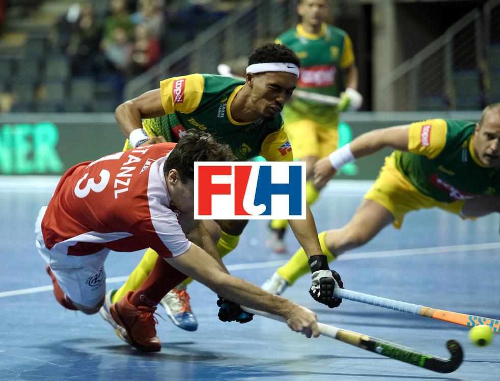 BERLIN - Indoor Hockey World Cup<br /> Austria - South Africa<br /> foto: STANZL Benjamin<br /> WORLDSPORTPICS COPYRIGHT FRANK UIJLENBROEK