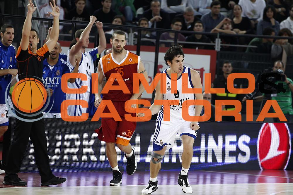 DESCRIZIONE : Roma Eurolega 2010-11 Lottomatica Virtus Roma Real Madrid<br /> GIOCATORE : Carlos Suarez<br /> SQUADRA : Real Madrid<br /> EVENTO : Eurolega 2010-2011<br /> GARA :  Lottamtica Virtus Roma Real Madrid<br /> DATA : 04/11/2010<br /> CATEGORIA : esultanza<br /> SPORT : Pallacanestro <br /> AUTORE : Agenzia Ciamillo-Castoria/ElioCastoria<br /> Galleria : Eurolega 2010-2011<br /> Fotonotizia : Roma Eurolega Euroleague 2010-11 Lottomatica Virtus Roma Real Madrid<br /> Predefinita :
