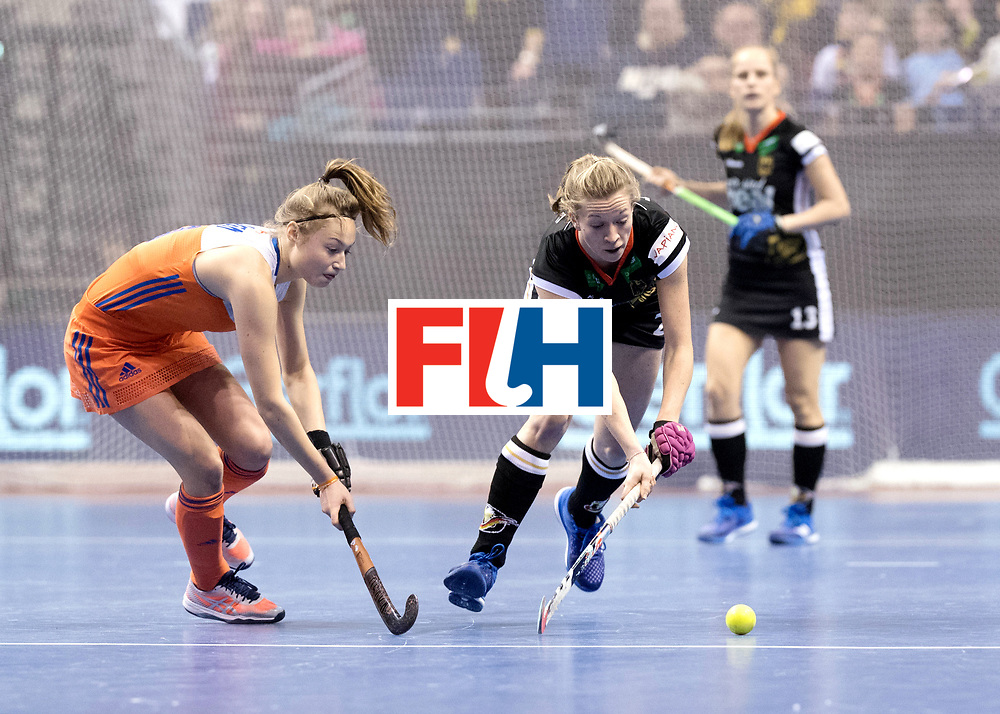 BERLIN - Indoor Hockey World Cup<br /> Final: Netherlands - Germany<br /> foto: Franzisca Hauke.<br /> WORLDSPORTPICS COPYRIGHT FRANK UIJLENBROEK