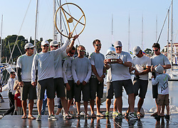 07.10.2012, Rovinj, CRO, Adris RC44 World Championship, Tag 5, im Bild Team Aqua second in Rovinj, // during day 5 of RC44 World Championship 2012 in Rovinj, Croatia on 2012/10/07. EXPA Pictures © 2012, PhotoCredit: EXPA/ Pixsell/ Jurica Galoic..***** ATTENTION - OUT OF CRO, SRB, MAZ, BIH and POL *****