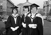 Degrees at Trinity College Dublin. Helen Simpson, Eleanor Whitsitt and Lula Sands..06.12.1962