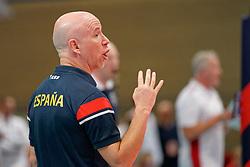 21-09-2019 NED: EC Volleyball 2019 Poland - Spain, Apeldoorn<br /> 1/8 final EC Volleyball / Coach Fernando Munoz Benitez of Spain