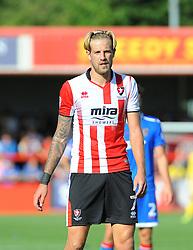 Harry Pell of Cheltenham Town- Mandatory by-line: Nizaam Jones/JMP - 02/09/2017 - FOOTBALL - LCI Rail Stadium - Cheltenham, England - Cheltenham Town v Stevenage- Sky Bet League Two