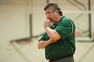 Rice head coach Tim Rice during the girls basketball game between the Burlington Sea Horses and the Rice Green knights at Rice Memorial high school on Thursday night February 18, 2016 in South Burlington. (BRIAN JENKINS/for the FREE PRESS)