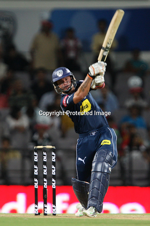 Deccan Chargers Btasman Herschelle Gibbs HIt The Shot  During The Indian Premier League - 46th match Twenty20 match | 2009/10 season Played at Vidarbha Cricket Association Stadium, Jamtha, Nagpur 12 April 2010 - day/night (20-over match)