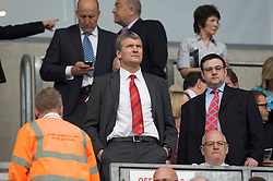 WIGAN, ENGLAND - Sunday, May 11, 2008: Manchester United's Chief-Executive David Gill before the final Premiership match of the season against Wigan Athletic at the JJB Stadium. (Photo by David Rawcliffe/Propaganda)