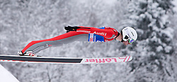 31.12.2014, Olympiaschanze, Garmisch Partenkirchen, GER, FIS Ski Sprung Weltcup, 63. Vierschanzentournee, Qualifikation, im Bild Daniel Wenig (GER) // during qualification Jump of 63rd Four Hills Tournament of FIS Ski Jumping World Cup at the Olympiaschanze, Garmisch Partenkirchen, Germany on 2014/12/31. EXPA Pictures © 2014, PhotoCredit: EXPA/ JFK