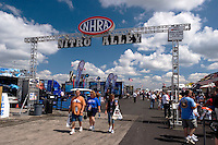 Tourists Walking Through NHRA Nitro Alley at U.S. Nationals, Indianapolis, Indiana