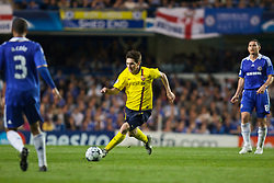 LONDON, ENGLAND - Wednesday, May 6, 2009: Barcelona's Lionel Messi in action against Chelsea during the UEFA Champions League Semi-Final 2nd Leg match at Stamford Bridge. (Photo by Carlo Baroncini/Propaganda)