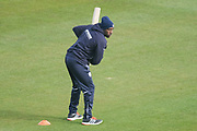 Michael Carberry of Hampshire practicing ahead of the Specsavers County Champ Div 1 match between Hampshire County Cricket Club and Middlesex County Cricket Club at the Ageas Bowl, Southampton, United Kingdom on 16 April 2017. Photo by David Vokes.