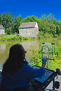 Plein Aire artist, Crystal Domino, Grings Mill, Berks Co., PA