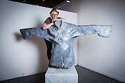 Sculptor Beth Cullen Kerridge  with &quot; Boardroom Sacrifice Marble 2014&quot; during the private view of Beth Cullen&rsquo;s exhibition &lsquo;Suits&rsquo; in Hoxton London on October 01, 2014.<br />  <br /> Beth &amp; Tom co own The Hand and Flowers, the restaurant they founded in Marlow in 2005, eventually became the first pub to be awarded two Michelin stars, and Kerridge&rsquo;s cookbook, Proper Pub Food, has sold more than 250,000 copies. His next volume, Best Ever Dishes, was released last month ahead of a BBC2 television series in October. The couple are about to open a second pub-restaurant.