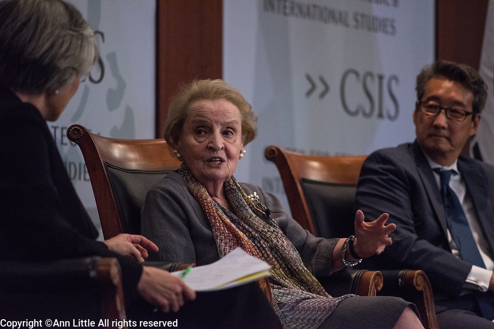9/26/2017; Madeline Albright speaks at CSIS in Washington, DC