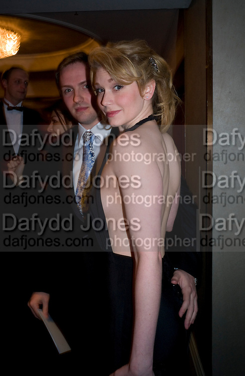 MATT HENAUGHAN; EMMA WILLIAMS, The Laurence Olivier Awards, The Grosvenor House Hotel. Park Lane. London. 8 March 2009 *** Local Caption *** -DO NOT ARCHIVE -Copyright Photograph by Dafydd Jones. 248 Clapham Rd. London SW9 0PZ. Tel 0207 820 0771. www.dafjones.com<br /> MATT HENAUGHAN; EMMA WILLIAMS, The Laurence Olivier Awards, The Grosvenor House Hotel. Park Lane. London. 8 March 2009