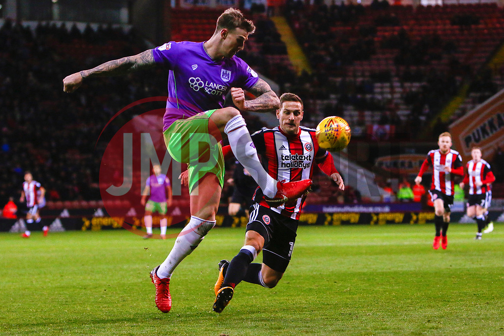Aden Flint of Bristol City clears the ball - Mandatory by-line: Ryan Crockett/JMP - 08/12/2017 - FOOTBALL - Bramall Lane - Sheffield, England - Sheffield United v Bristol City - Sky Bet Championship