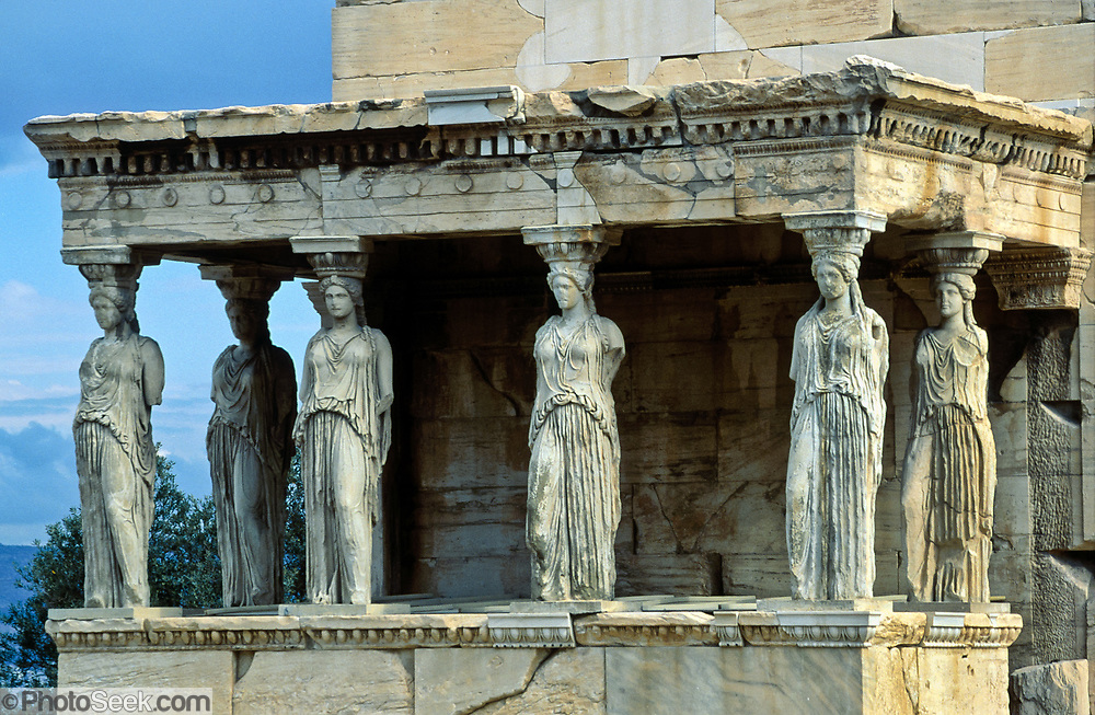 Porch of the Caryatids, Erechtheion, Acropolis, Athens ...