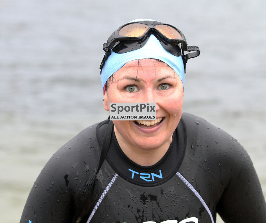 This competitor is delighted to be on dry land as 200 swimmers entered  the water to swim 550m to the Island of Kerrera as first part of the Craggy Island triathlon in its 2nd year with over 400 entrants the competition having to be spread over 2 days ..Kevin McGllynn(c)  | StockPix.eu