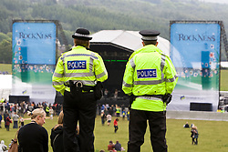 Police in the main arena..Rockness, Saturday 13th June 2009..Pic © Michael Schofield. All Rights Reserved.