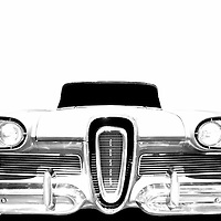 """The Edsel was developed in the late 1950's to compete with the midrange GM products like the Oldsmobile and Buick.  While the late 1950's were over the top in terms of design, the Edsel proved to go """"too far"""" for the general public & was a total failure, lasting only a couple of years."""