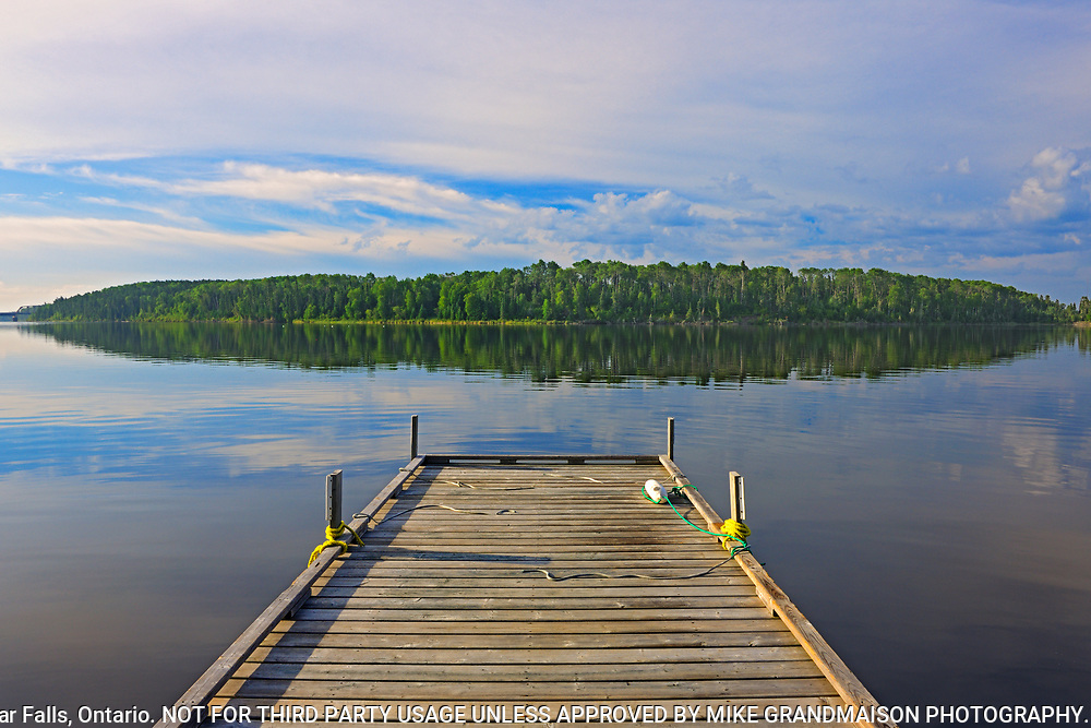 Dock on Lac Seul at Golden Eagle Lodge<br />
