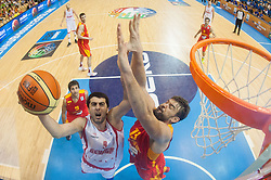 Giorgi Shermadini #9 of Georgia vs Marc Gasol #13 of Spain during basketball match between National teams of Spain and Georgia in Round 1 at Day 6 of Eurobasket 2013 on September 9, 2013 in Arena Zlatorog, Celje, Slovenia. (Photo by Vid Ponikvar / Sportida.com)