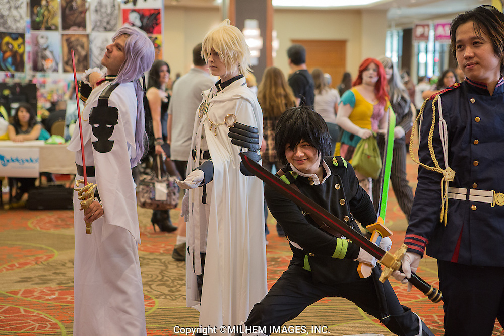 Hundreds of fans dressed as their favorite Japanese Anime character took over the Dallas Sheraton Convention center to meet with fellow anime fans performing cosplay and educating the public about animation, cinema, art, music, games, crafting, costume design, dance, and other forms of traditional and popular culture and art.