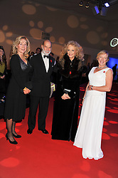 Left to right, HEATHER LOVE, TRH PRINCE & PRINCESS MICHAEL OF KENT and CLARE HORTON at the annual Collars & Coats Gala Ball in aid of Battersea Dogs & Cats Home held at Battersea Evolution, Battersea Park, London on 11th November 2011.