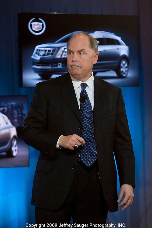 Fritz Henderson, General Motors CEO, speaks during a press conference at GM Global Headquarters in Detroit, MI, Monday, November 16, 2009. GM said it lost $1.15 billion in the third quarter after emerging from bankruptcy on July 10, but it increased its cash reserves by $3.3 billion. (Jeffrey Sauger/)