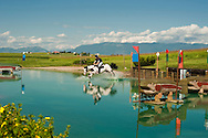 Eventing (equestrian triathlon), Cross Country competition, The Event at Rebecca Farms,  Kalispell, Montana, Joshua Lacy, AQPS, Paint