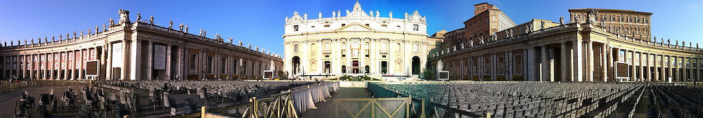 Panoramic view of St. Peter's Basilica. (Sam Lucero photo)
