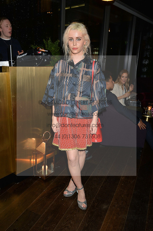BILLIE JD PORTER at a party hosted by Christian Lacroix partnered with Supa Model Management to celebrate London Men's Collections January 2015, held at the Rumpus Room, the roof top bar at the top of the Mondrian London, 20 Upper Ground, London SE1 on 12th January 2015.