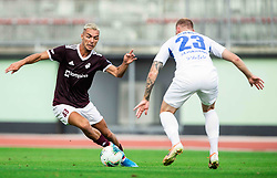 David Tijanić of Triglav during football match between NK Triglav and NK Celje in 7th Round of Prva liga Telekom Slovenije 2019/20, on August 25, 2019 in Sports park, Kranj, Slovenia. Photo by Vid Ponikvar / Sportida