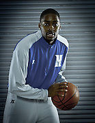 Hampton University senior Mike Tuitt headshot in Hampton, Virginia.  October 07, 2011  (Photo by Mark W. Sutton)