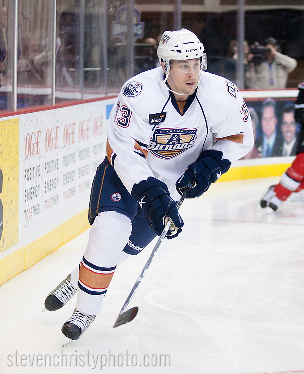 March 5, 2011: The Oklahoma City Barons play the Abbotsford Heat in an American Hockey League game at the Cox Convention Center in Oklahoma City.