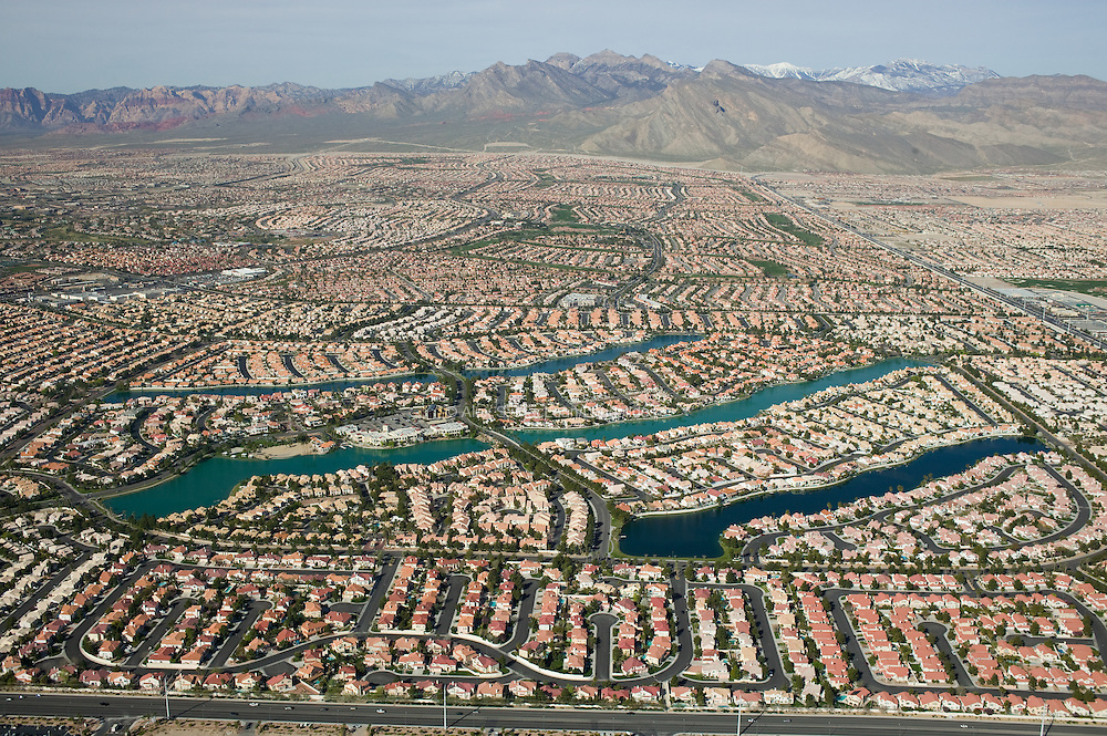 Desert Shores is a 3,068-unit planned community that includes 22 residential districts and four artificial lakes.  The lakes are filled with potable municipal water.