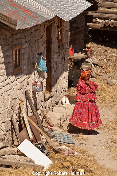Tarahumara settlement in Valle de los Hongos near Creel, Copper Canyon, Mexico