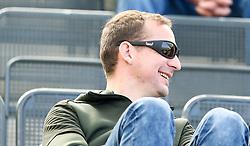 31.03.2019, Keine Sorgen Arena, Ried, AUT, 2. FBL, SV Guntamatic Ried vs SKU Ertl Glas Amstetten, 20. Runde, im Bild Thomas Sageder auf der Tribühne // during the Erste Liga 20th round match between SV Guntamatic Ried and SKU Ertl Glas Amstetten at the Keine Sorgen Arena in Ried, Austria on 2019/03/31. EXPA Pictures © 2019, PhotoCredit: EXPA/ Roland Hackl