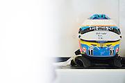October 8, 2015: Russian GP 2015: Fernando Alonso's helmet, McLaren Honda