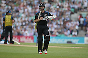 New Zealand Kane Williamson walks to the pavilion out for 93 during the Royal London One Day International match between England and New Zealand at the Oval, London, United Kingdom on 12 June 2015. Photo by Phil Duncan.